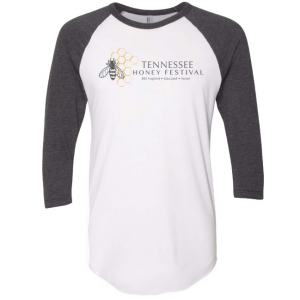 Tennessee Honey Festival 3/4 Sleeve Raglan – White/Gray