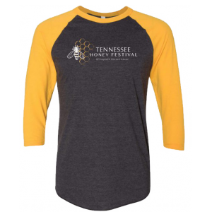 Tennessee Honey Festival 3/4 Sleeve Raglan – Gray/Yellow